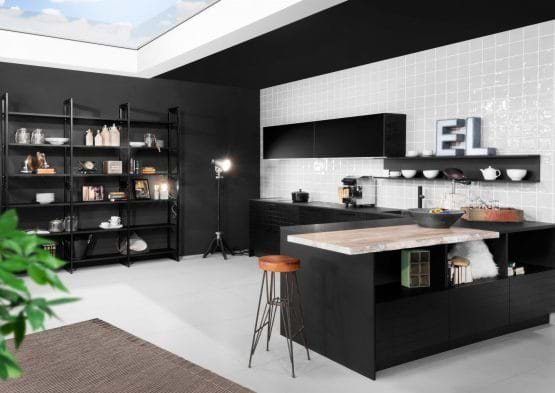 Rotpunkt umbra marble kitchen with island