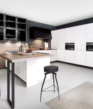 Rotpunkt Limit kitchen in white with island