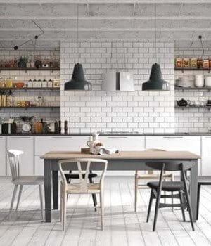 Casa modern kitchen with tiles