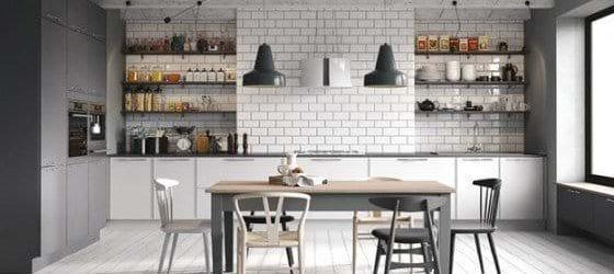 Two tone grey kitchen in Leekes Bilston kitchen showroom