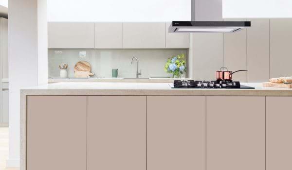 Gloss kitchen in Leekes Bilston kitchen show room