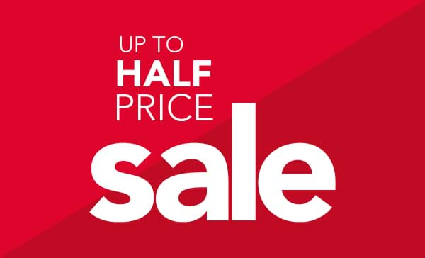 Up to half price sale