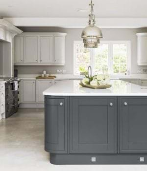 Laura Ashley Harwood kitchen in anthracite grey with island