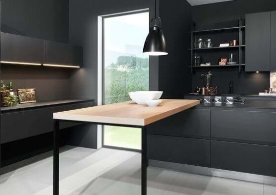 Rotpunkt power kitchen in carbon