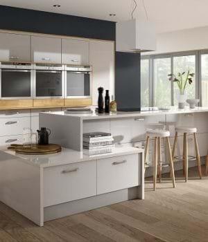 Mattonella gloss ivory kitchen