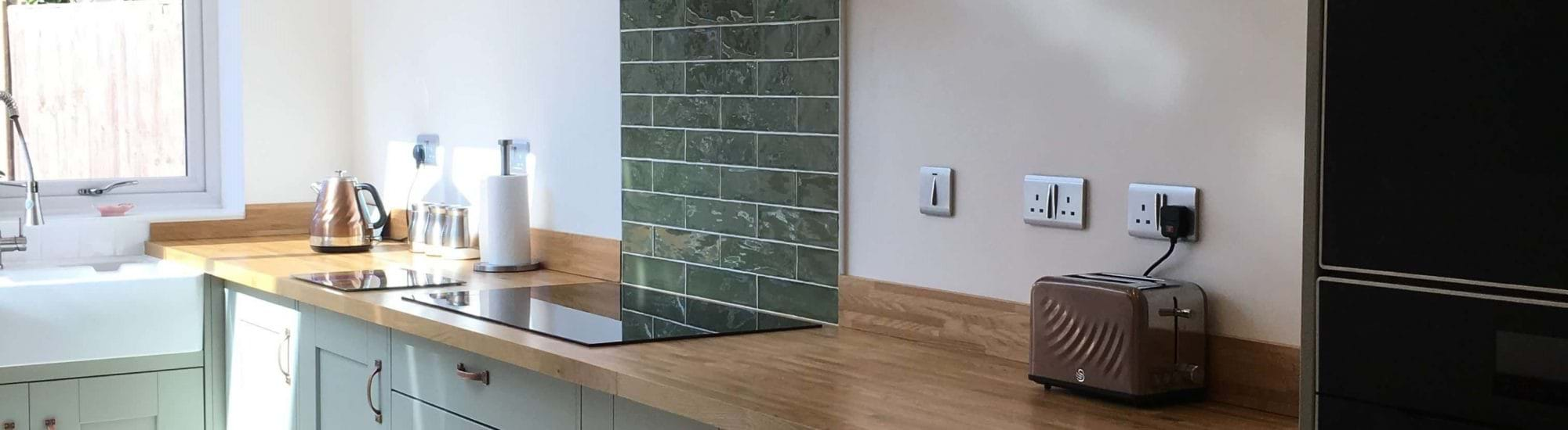 Casa Austin sage green kitchen image in a customers home