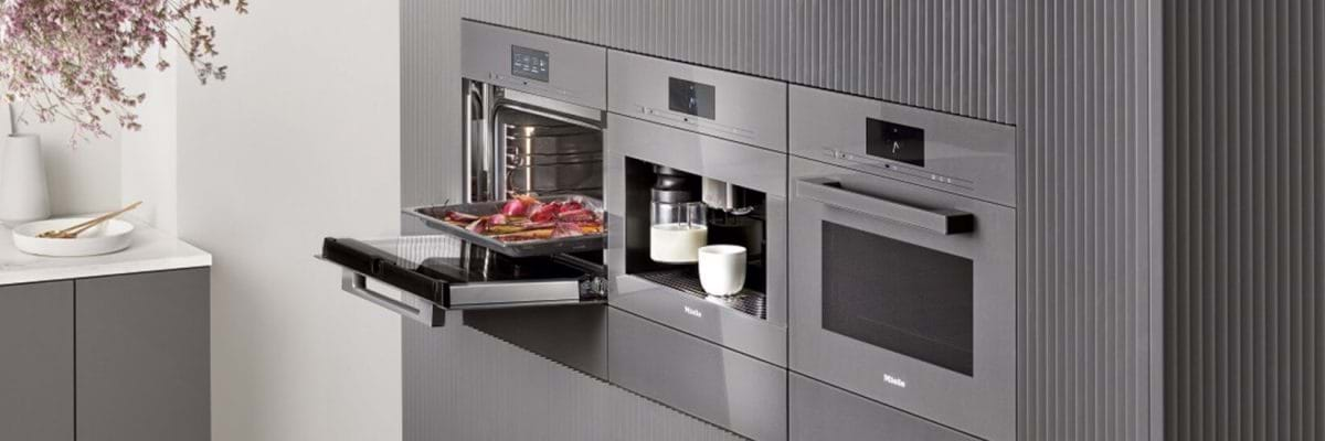 Miele built in ovens and coffee machine