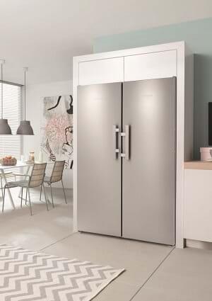 Miele chrome fridge freezer