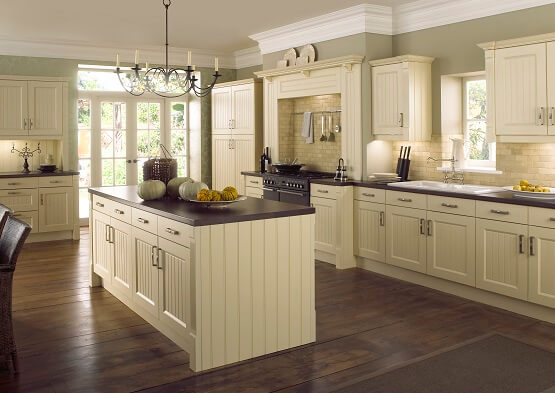Chippendale Grooved Ivory traditional kitchen