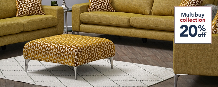 Multibuy 20% Off Selected Sofas & Chairs