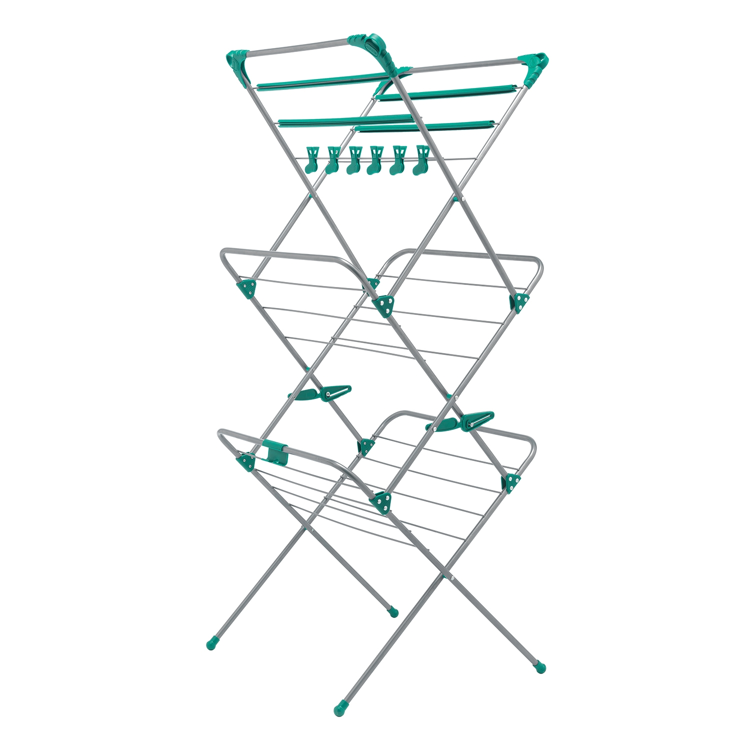 Image of Addis, Deluxe 3 Tier Airer, 15 Mtere, Blue