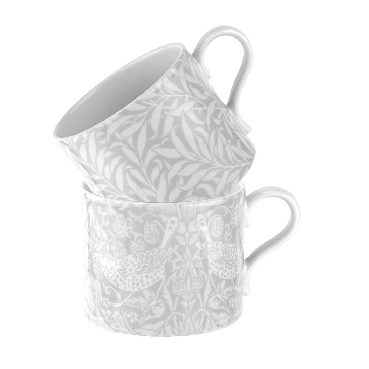 Image of Morris & Co. Strawberry Thief and Willow Bough Mug Set