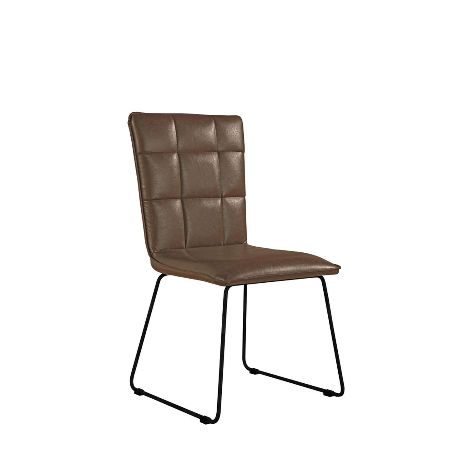 Image of Casa Pair of Panel Dining Chairs, Brown