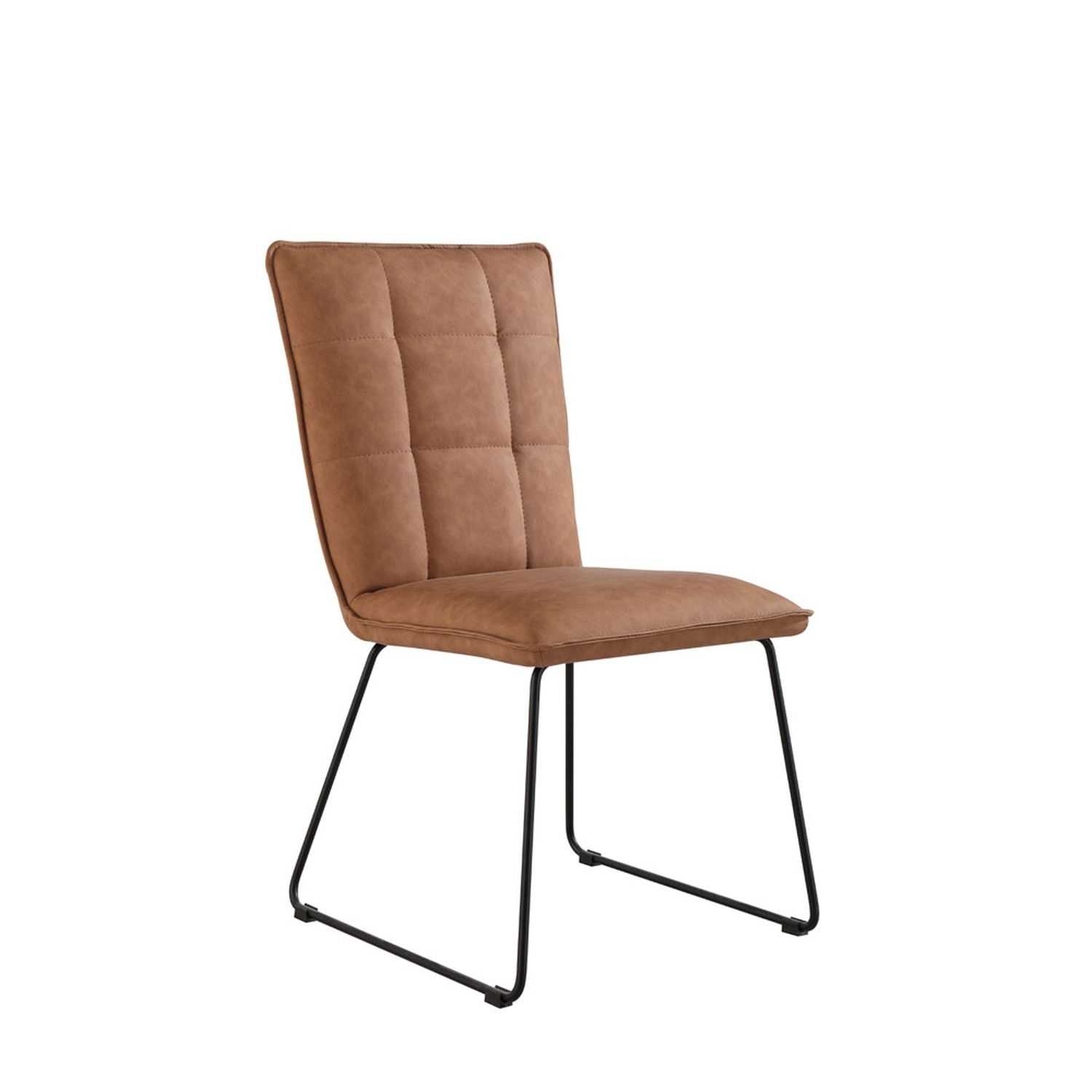 Image of Casa Pair of Panel Dining Chairs, Tan