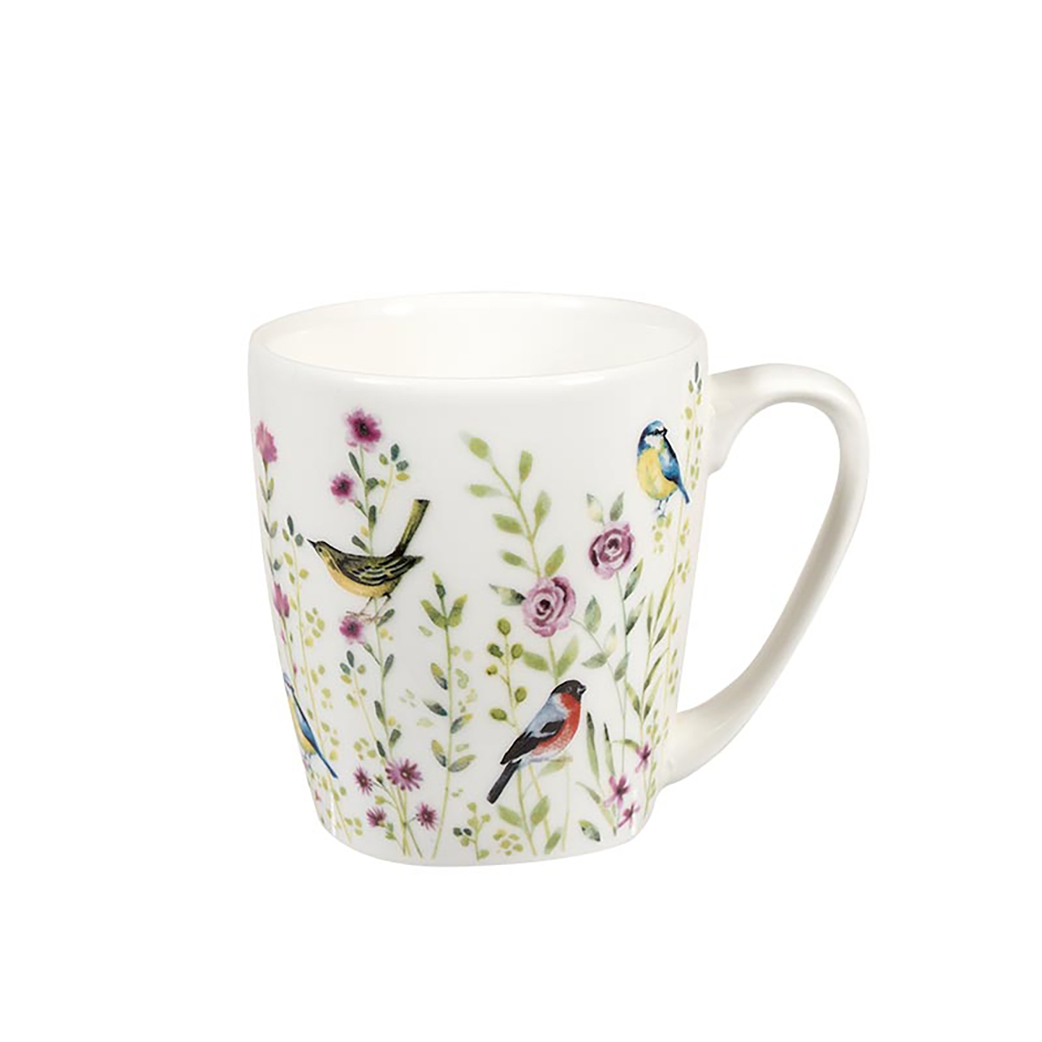 Image of Churchill China, Bird Watch Mug, White, 300ml