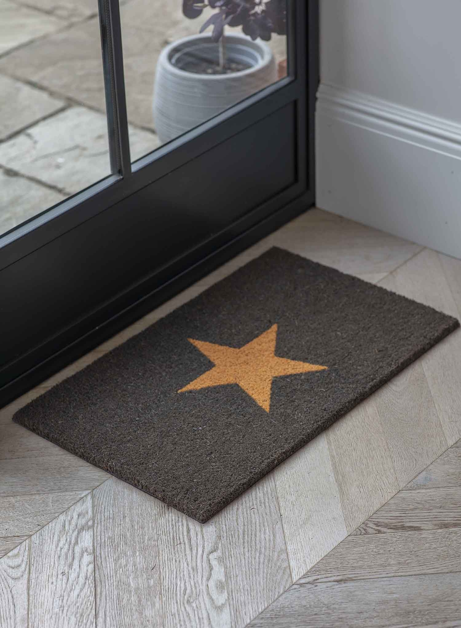 Image of Garden Trading Small Star Doormat, Charcoal