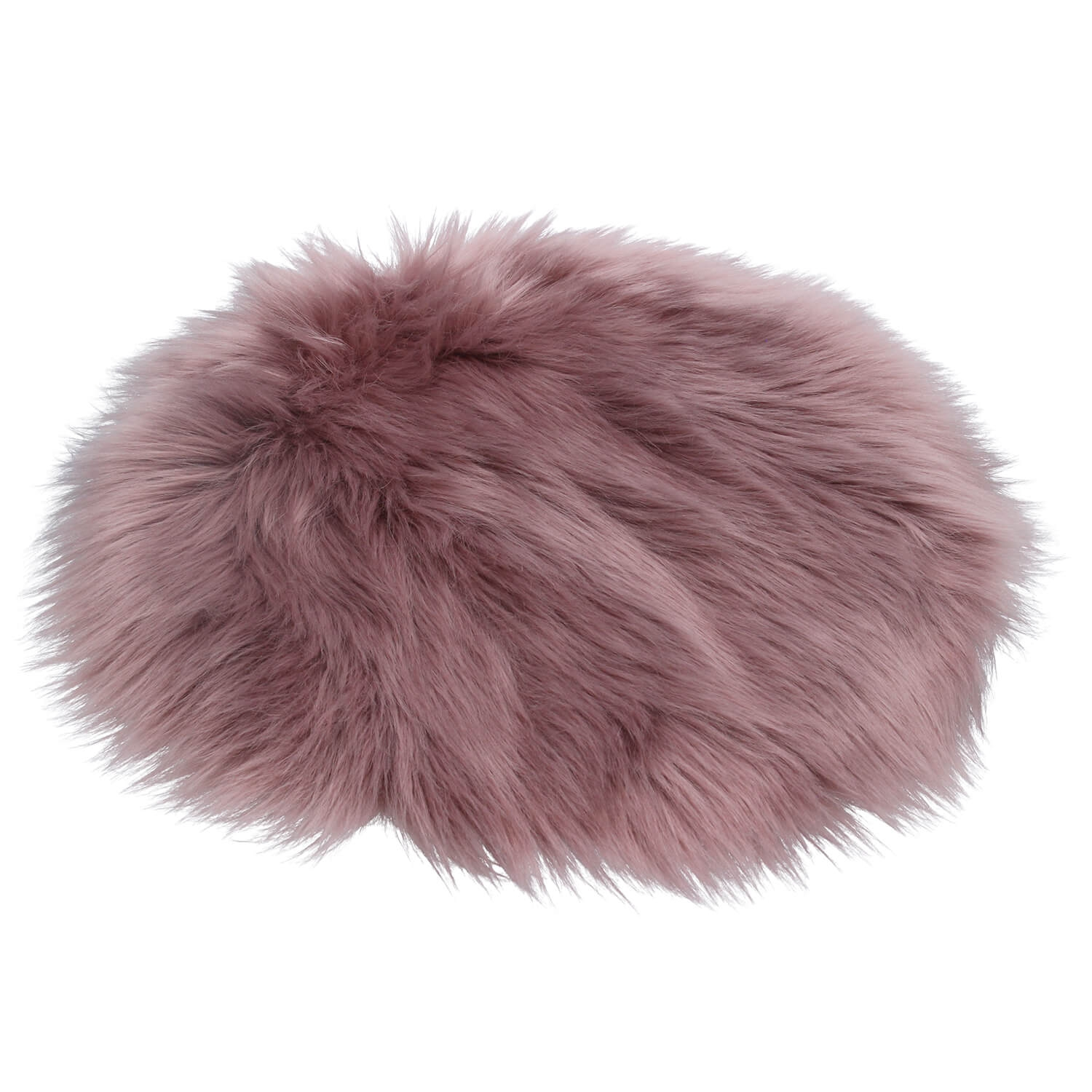 Image of Gisela Graham Faux Fur Relaxed Seat Cover, Dusky Mauve