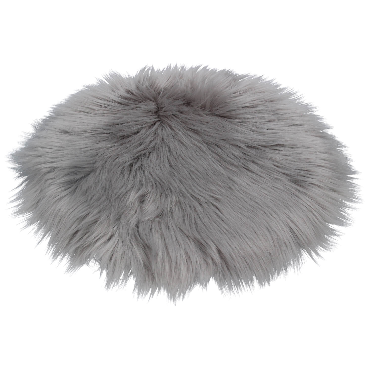 Image of Gisela Graham Faux Fur Relaxed Seat Cover, Grey