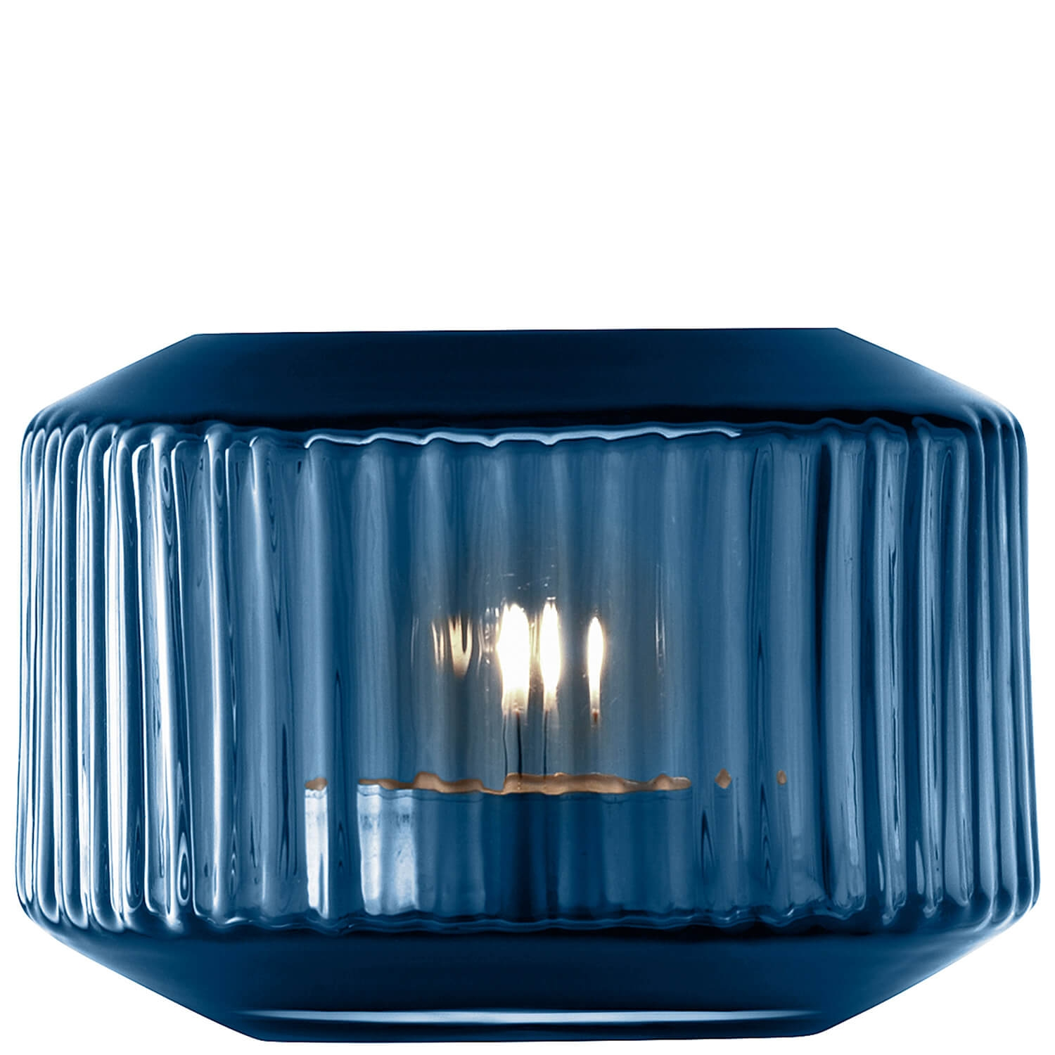 Image of Lsa Rotunda Tealight Holder, Sapphire