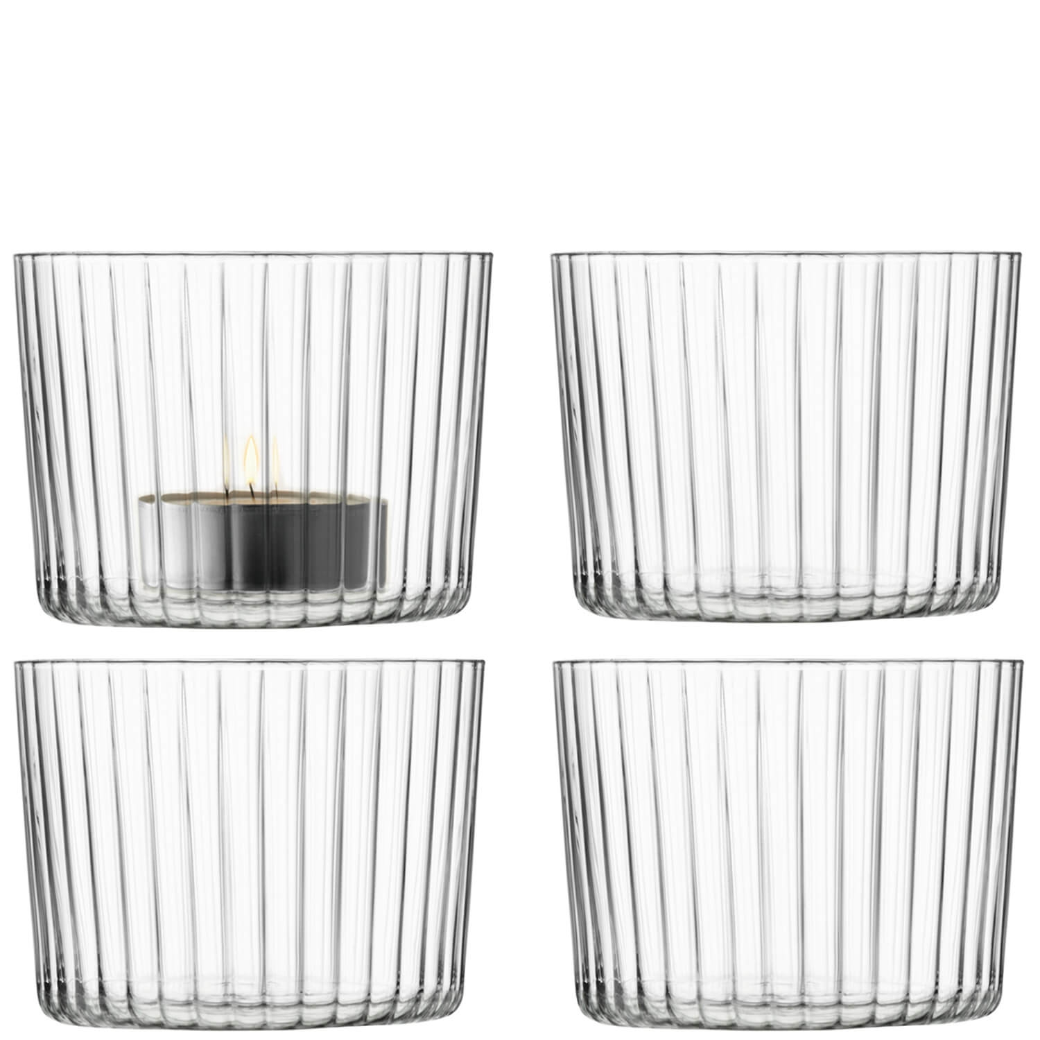 Image of LSA, Gio Line, Tealight Holder, Clear, Set of 4