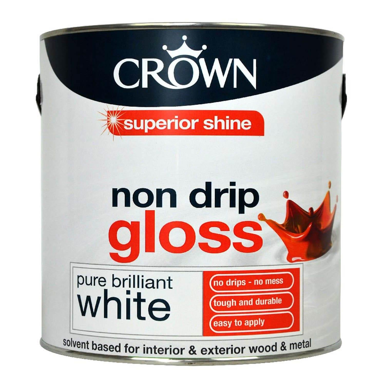 Image of Crown 2.5L Non Drip Gloss, Pure Brilliant White