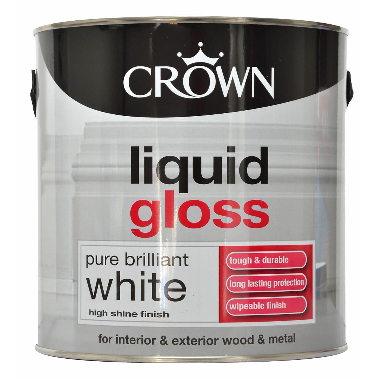 Image of Crown 2.5L Liquid Gloss, Pure Brilliant White