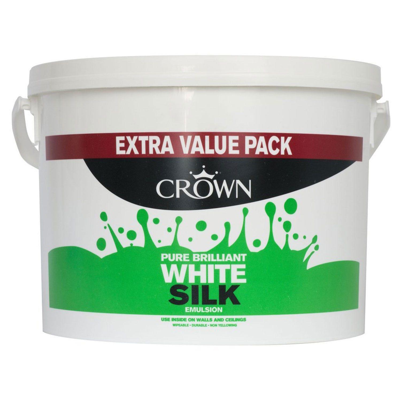 Image of Crown 10l Silk Pure Brilliant White