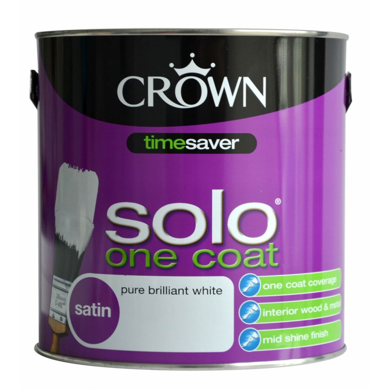 Image of Crown 2.5L Solo Satin, Pure Brilliand White