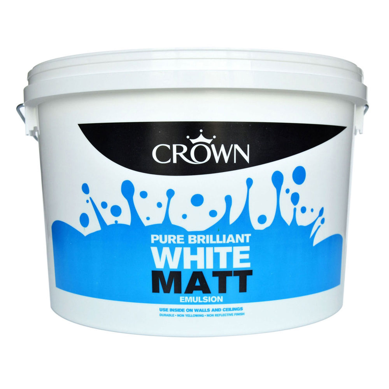 Crown 10l Matt Pure Brilliant White