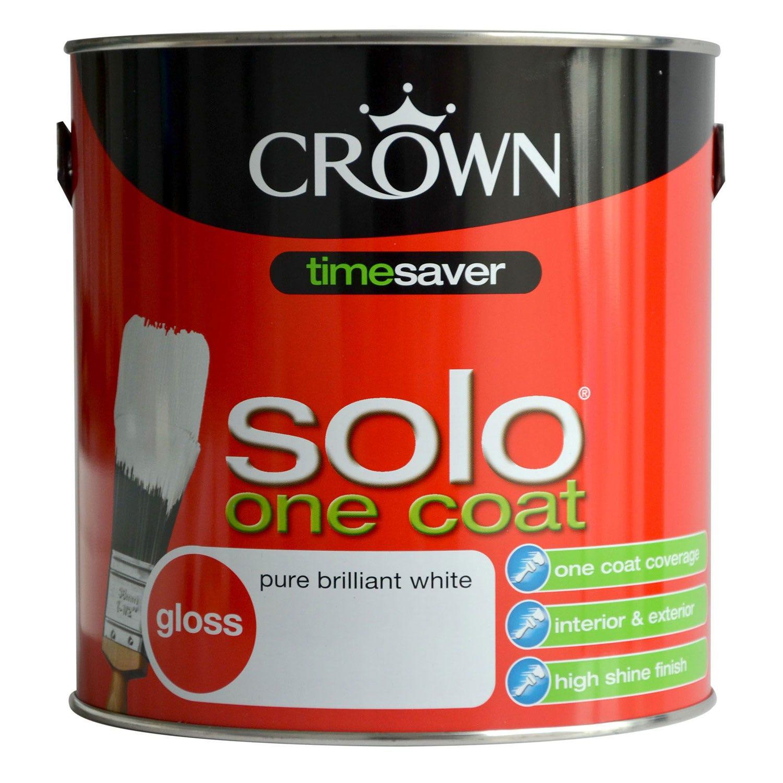 Image of Crown 1.25L Solo Gloss, Pure Brilliant White