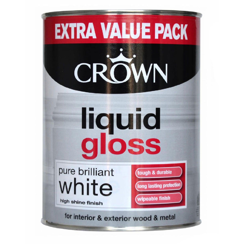Image of Crown 1.25L Liquid Gloss, Pure Brilliant White