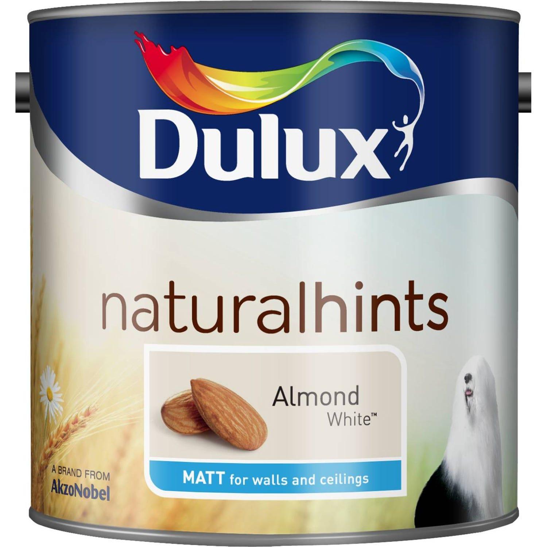 Image of Dulux 2.5l Matt Standard Emulsion Paint, Almond White