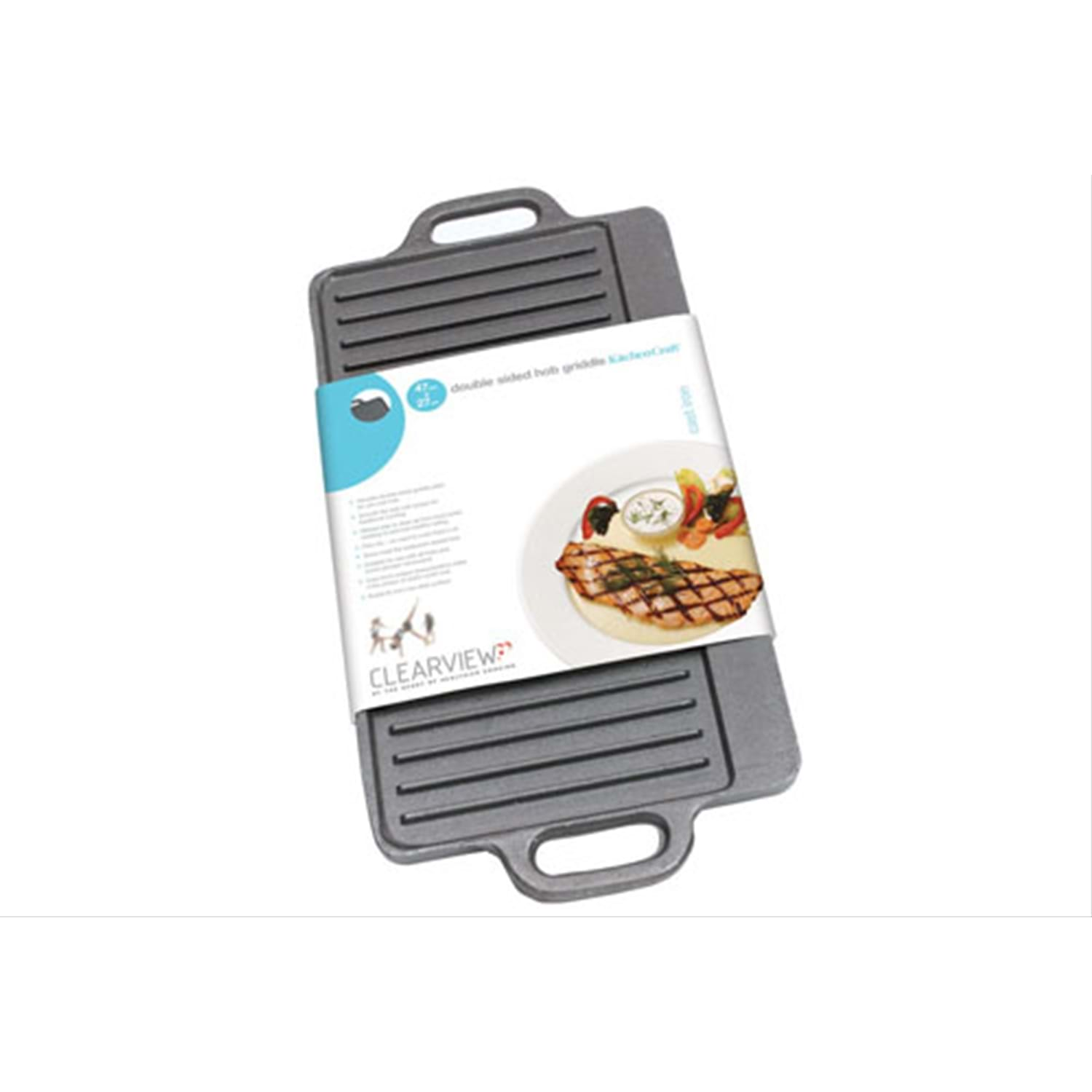 Image of Clearview Cast Iron Reversible Griddle