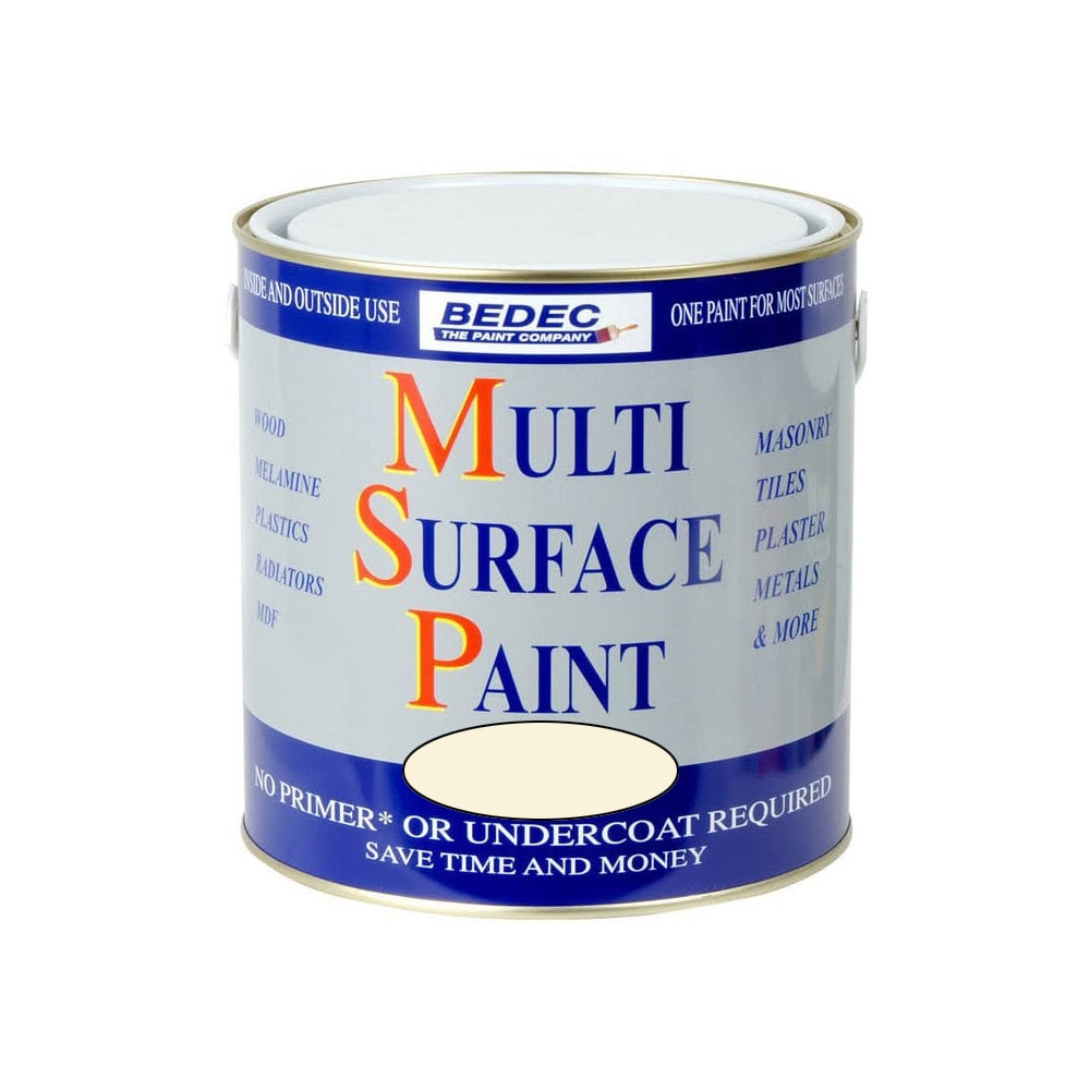 Image of Bedec 250ml Multi Surface Paint Soft Gloss Magnolia