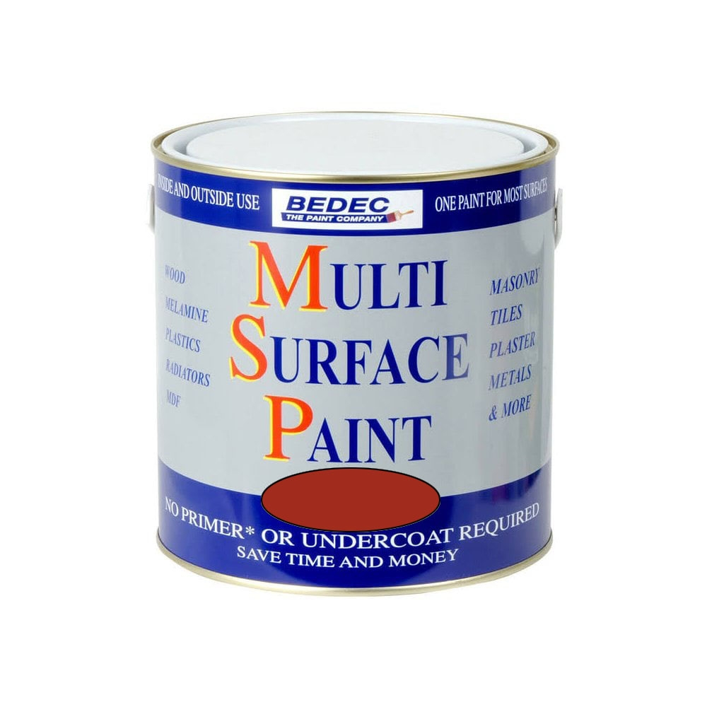 Image of Bedec 250ml Multi Surface Paint Soft Gloss Red Cossack