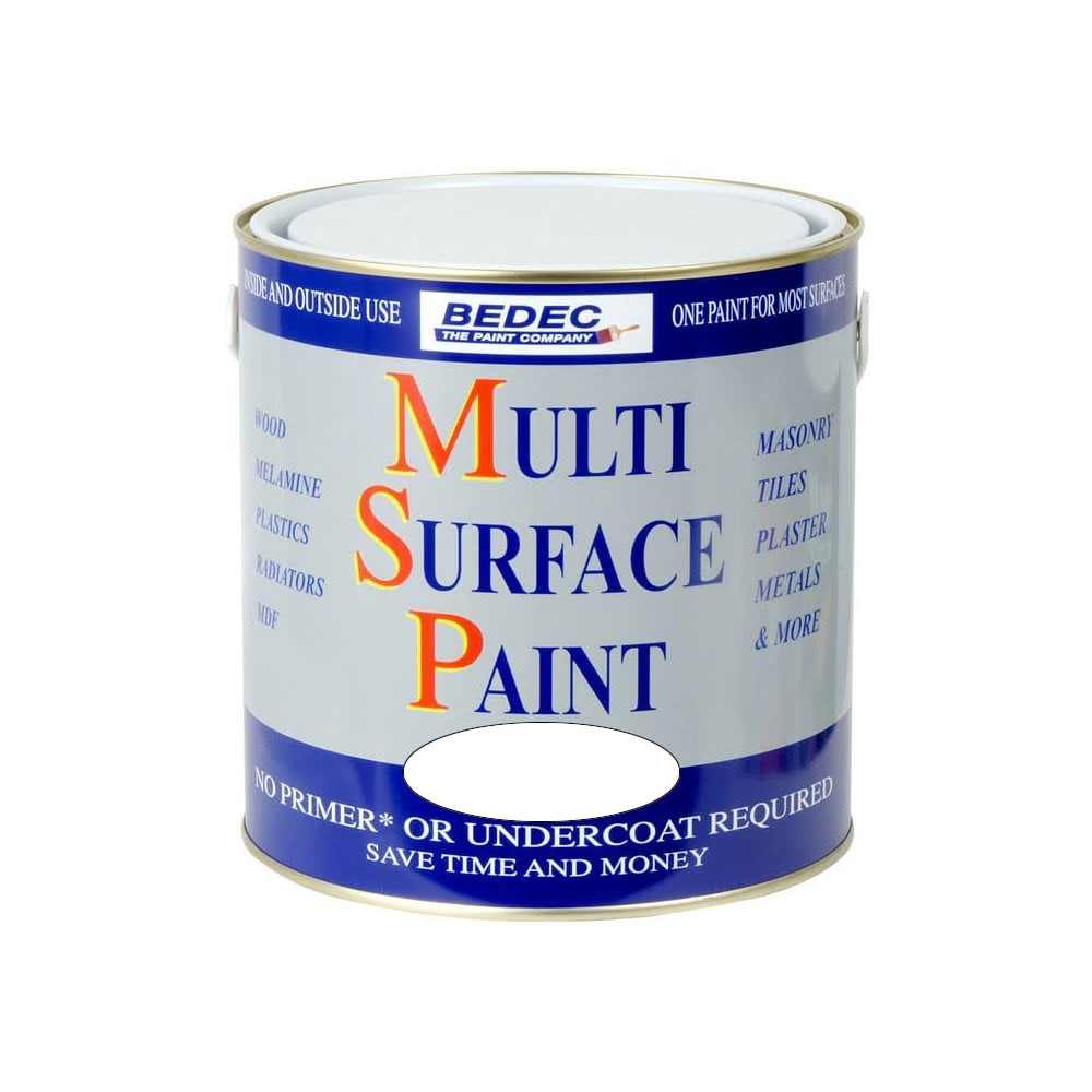 Image of Bedec 250ml Multi Surface Paint Soft Gloss White