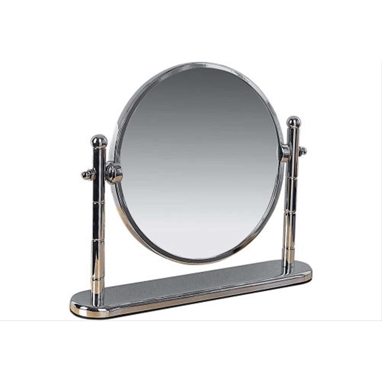 Image of Miller Freestanding Swivel Mirror, Chrome