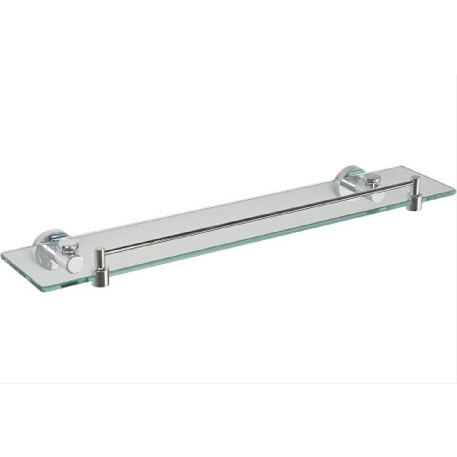 Image of Miller Bond Clear Glass Shelf with Guard Rail
