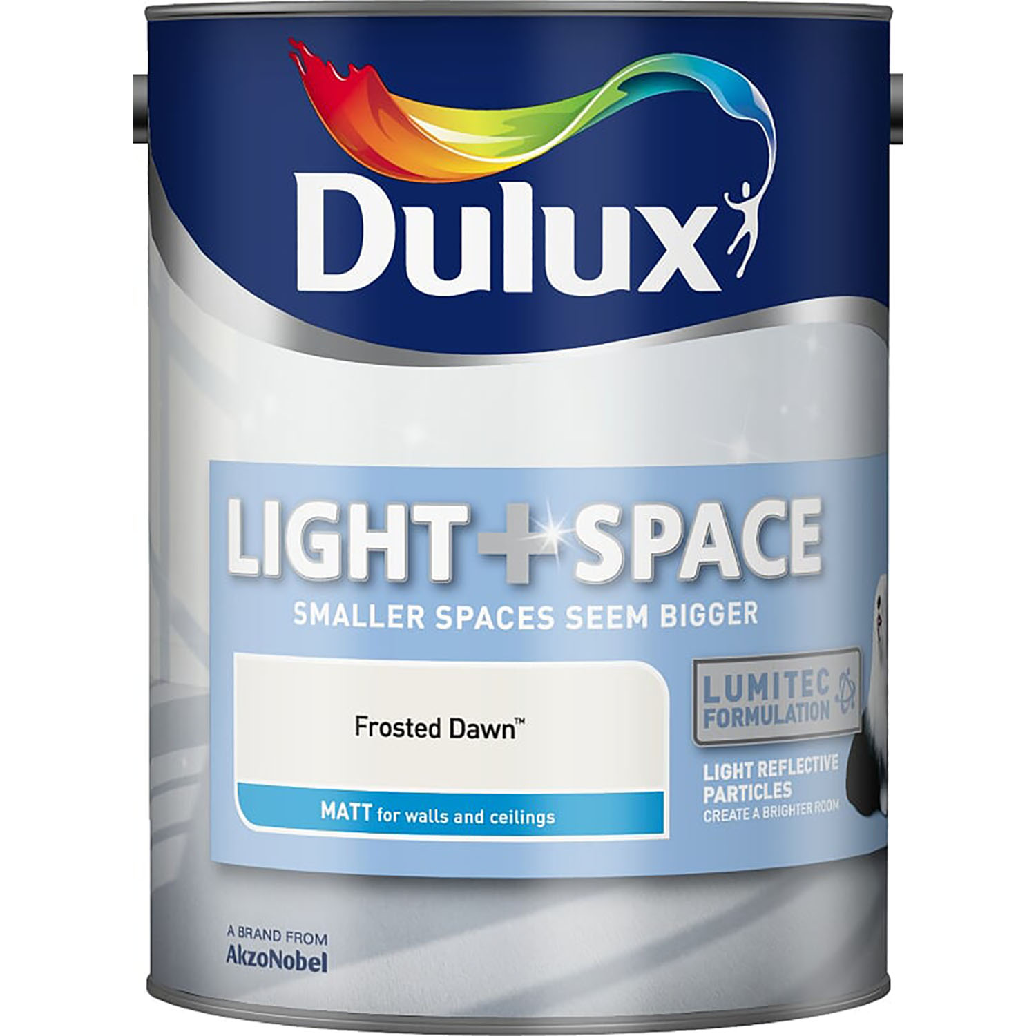 Dulux 5L Light and Space Matt Emulsion Paint, Frosted Dawn