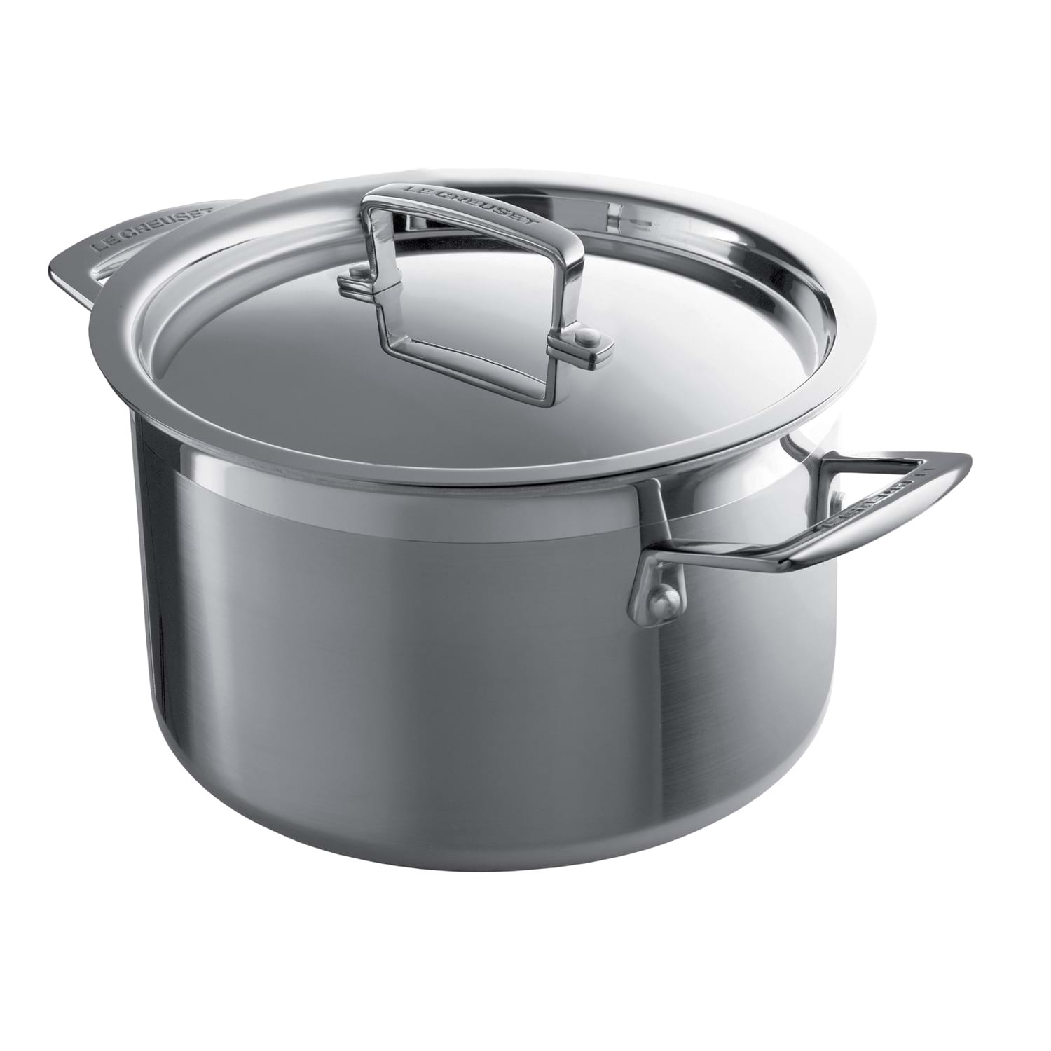 Image of Le Creuset 3-Ply Stainless Steel Deep Casserole, 24cm