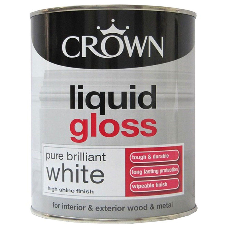Image of Crown 750ml Liquid Gloss, White