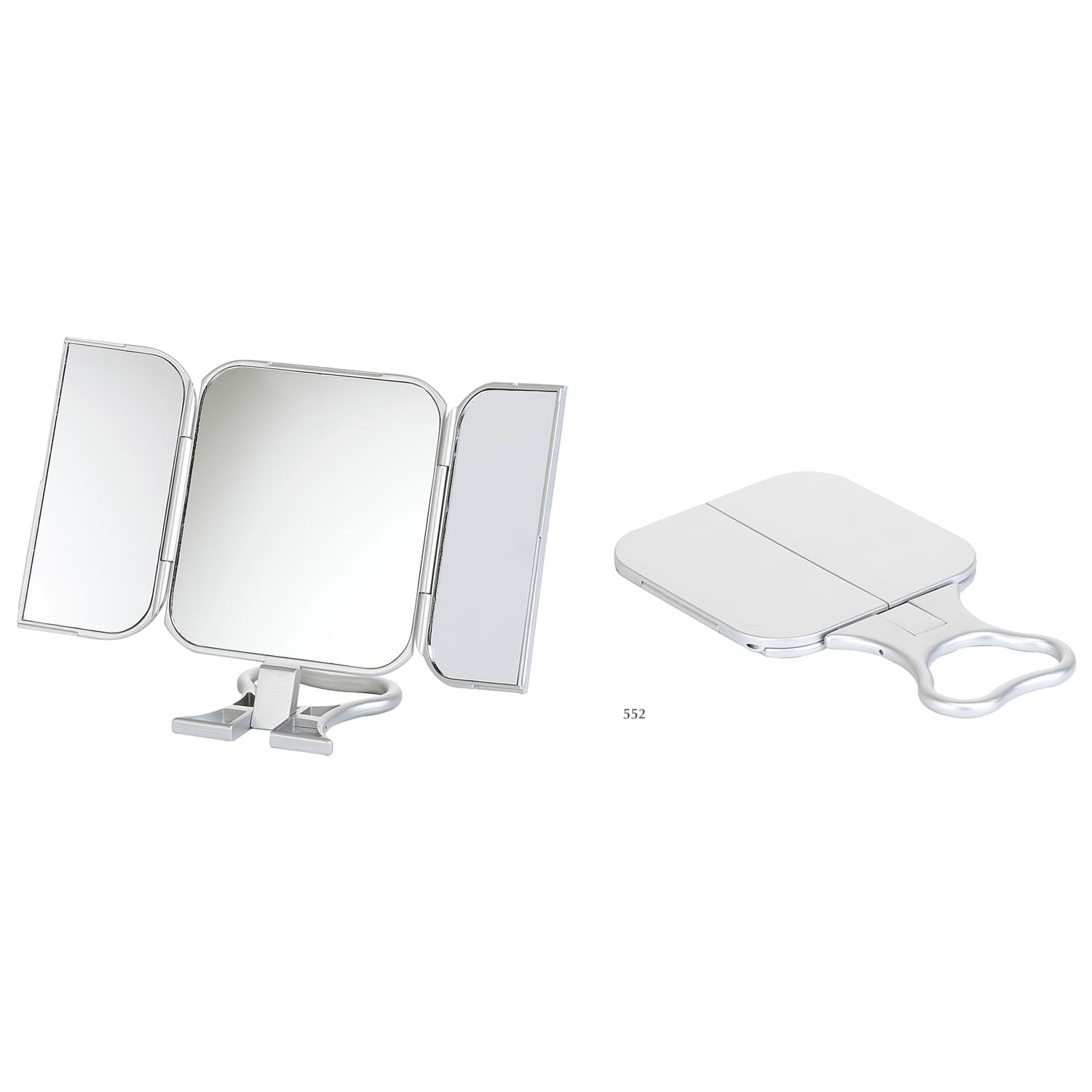 Image of Folding Travel Mirror 23x12cm, Silver