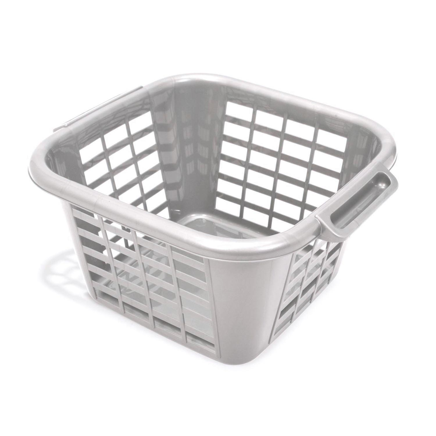 Image of 24L Square Laundry Basket, Metallic