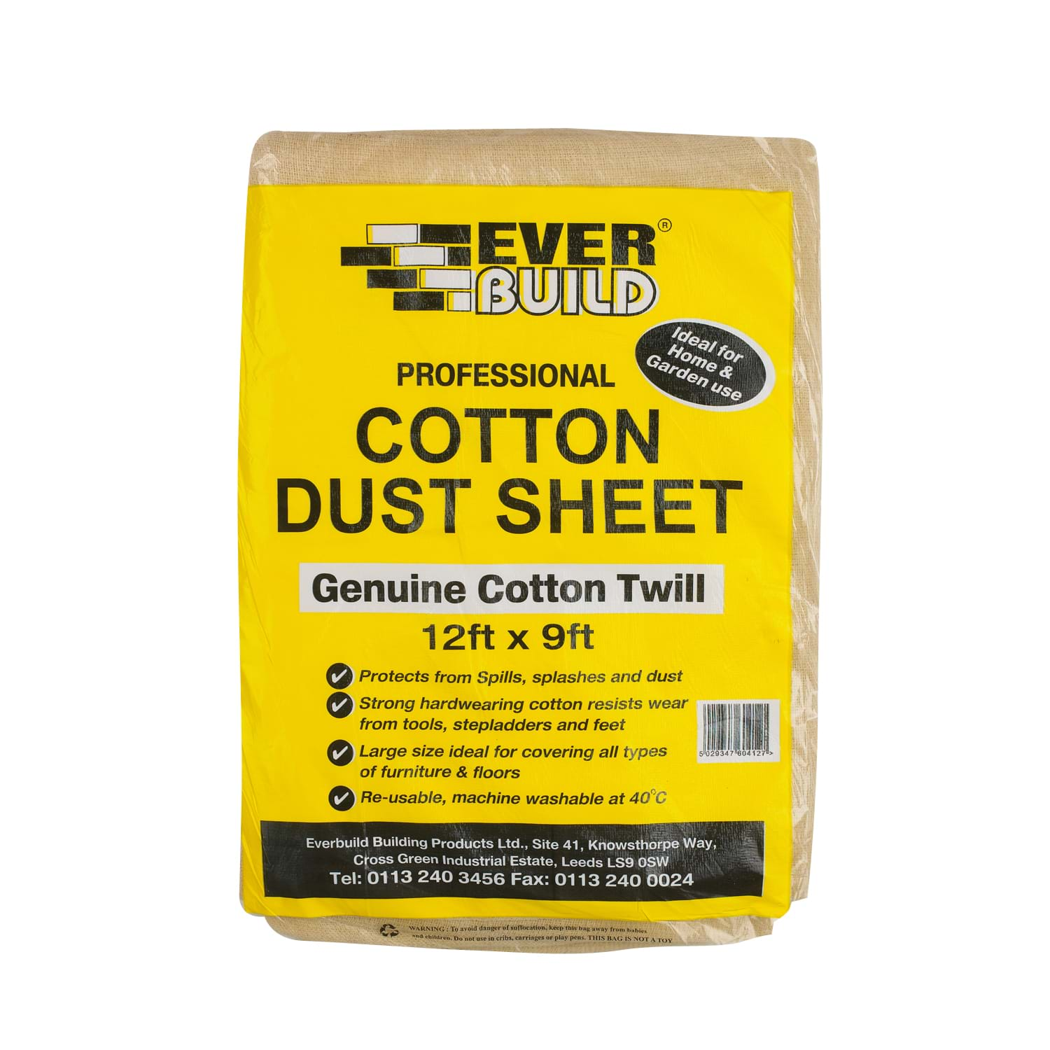 Image of Sika 12x9 Cotton Dust Sheet
