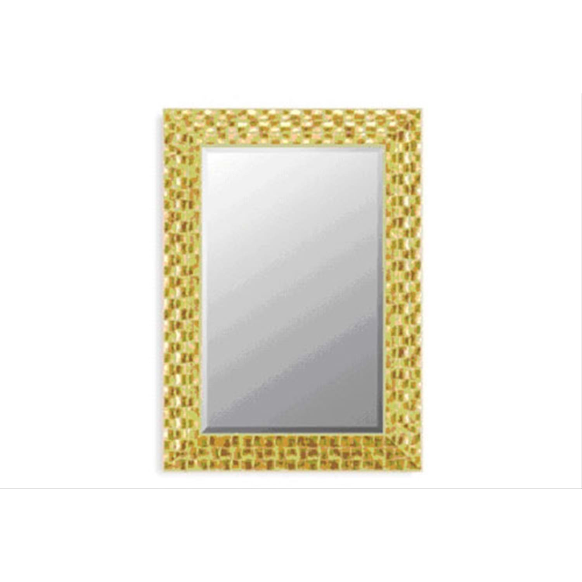 "Image of Gold Mosaic 42""x30"" Mirror"