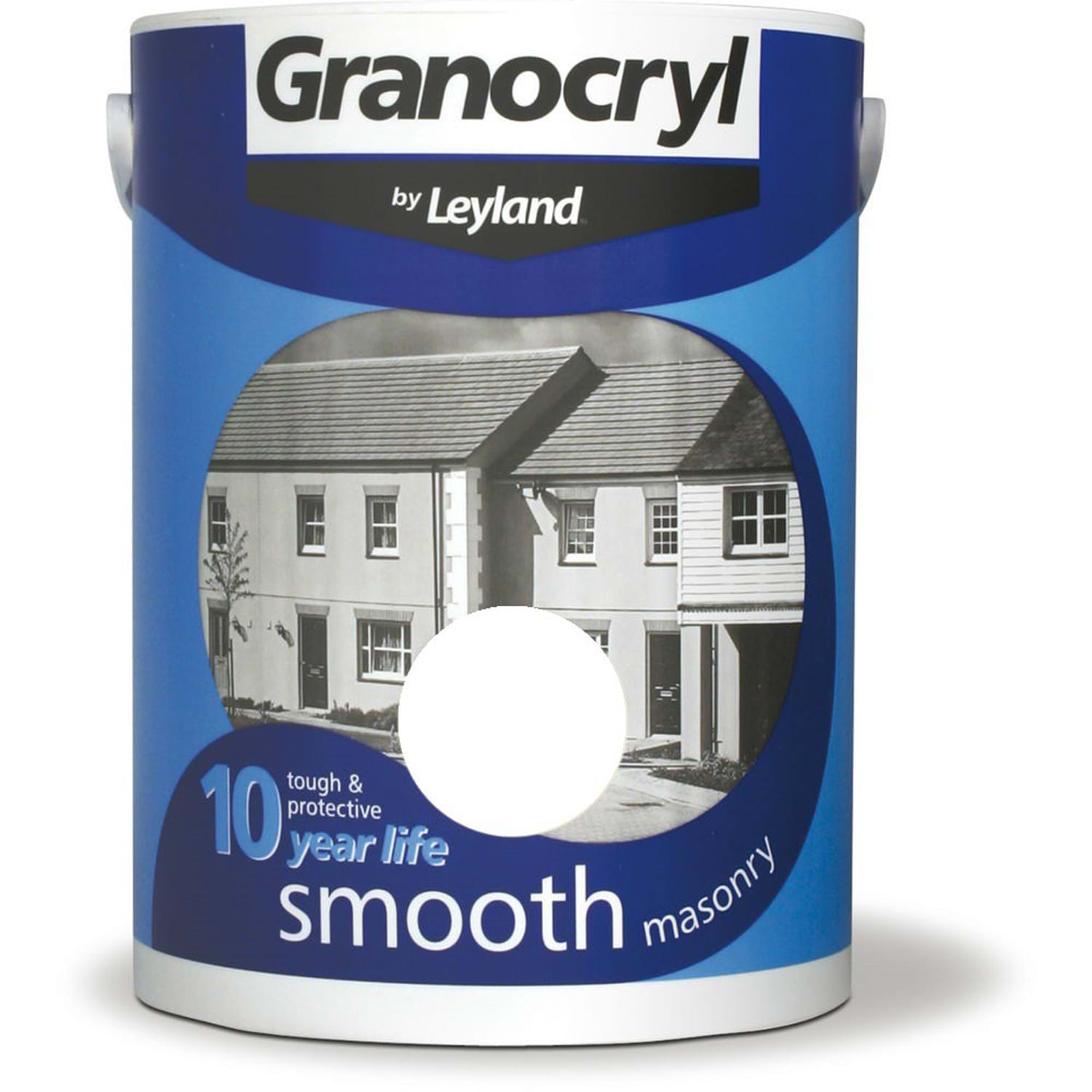 Image of Granocryl 5L Smooth Masonry Paint, Pure Brilliant White