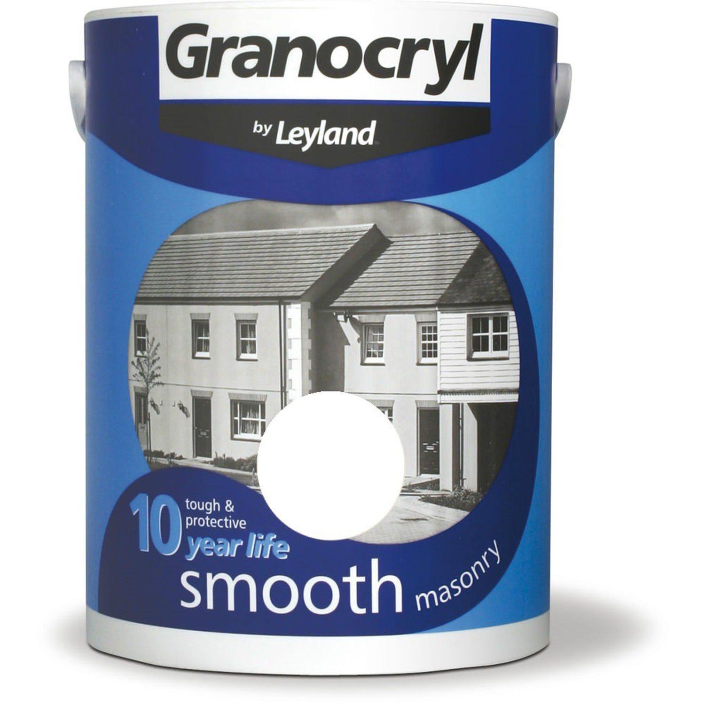 Image of Granocryl 5l Smooth Masonry Paint, Pure Brilliant White