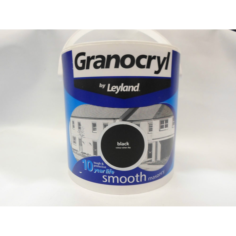 Image of Granocryl 2.5l Smooth Masonry Paint, Black