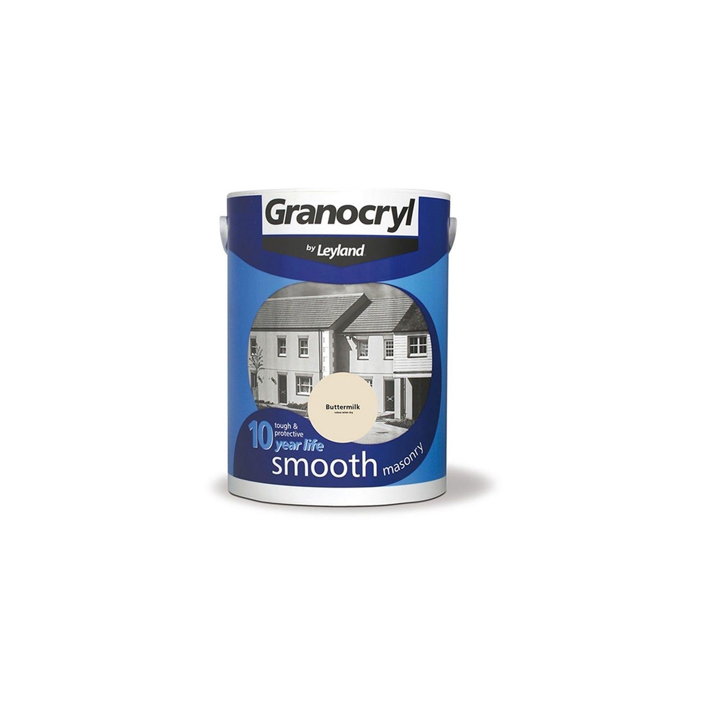 Image of Granocryl 5l Smooth Masonry Paint, Buttermilk
