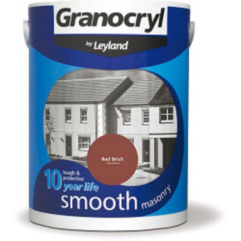 Image of Granocryl 5l Smooth Masonry Paint, Red Brick